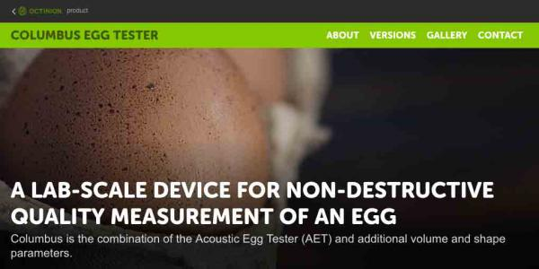 Mini site over de Columbus Egg Tester